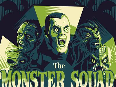 Monster Squad monster squad screen print poster movie posters illustration design