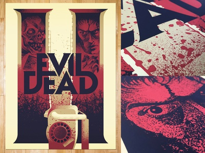 Evil Dead II evil dead screen print poster movie posters illustration design