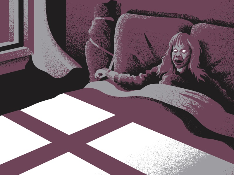 the exorcist the exorcist screen print poster movie posters illustration design