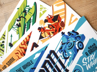 Fortune & Glory travel postcards indiana jones postcards poster movie posters illustration design