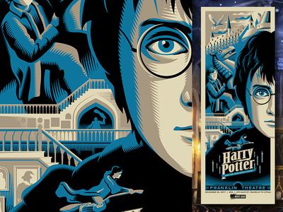 sorcerer's stone harry potter movie posters illustration design