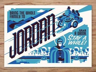 jordan postcard indiana jones travel postcards movie posters illustration design