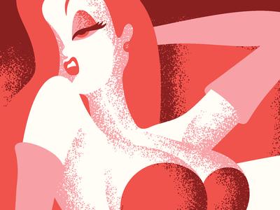 Jessica Rabbit roger rabbit pin up movie posters illustration design