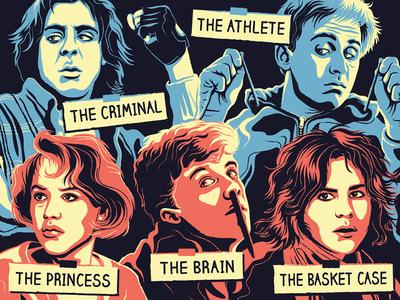 The Breakfast Club breakfast club movie posters screen printing posters illustration design