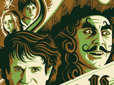 bangarang! posters screen printing robin williams peter pan captain hook hook movie posters movies illustration design