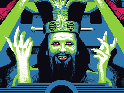 Lopan screen printing lopan big trouble in little china movie posters illustration design