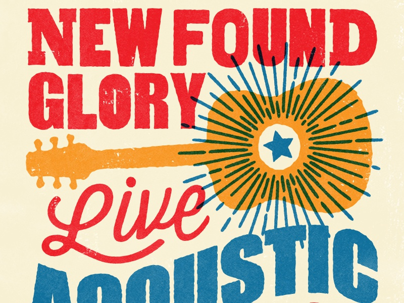 NFG Acoustic new found glory typography gig posters merch screen printing gig poster illustration design