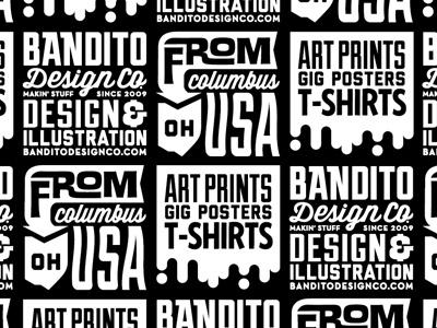 Bandito Pattern Shot branding pattern bandito