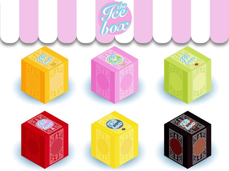 Ice Box Illustration - Flavours