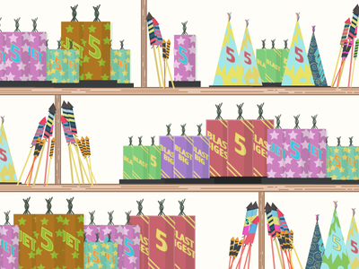 Dribbble Fireworks america summer detailed flat illustration colorful 4th of july july 4th fourth of july fire works fireworks