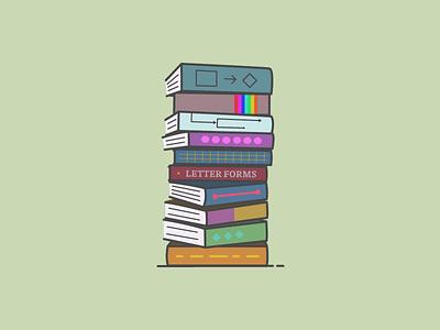 10 Ux Books green stack illustration ui books on design design books