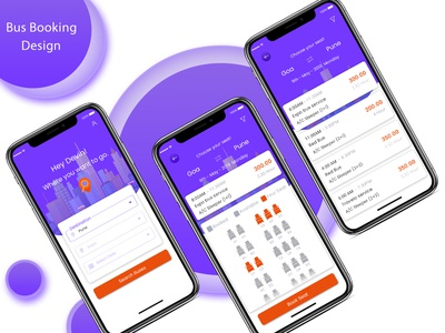 Bus Booking App Design