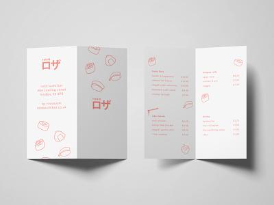 Sushi Menu procreate print design leaflet graphic design print minimal flat icon typography branding logo illustration design