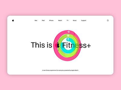 Fitness+ Landing Concept color adobe xd sketch blender3d blender render cinema4d c4d webdesign website concept figmadesign figma website branding