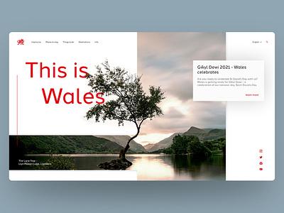 Visit Wales Landing paage web ui sketch landing design graphic design website concept website webdesign figmadesign figma