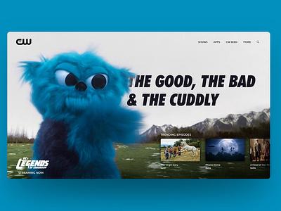 DC's Legends of Tomorrow Landing Page ui sketch adobe xd web graphic design website concept website webdesign figma figmadesign