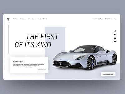 Maserati MS20 Landing page landing design design adobexd ui sketch figma website concept website webdesign figmadesign