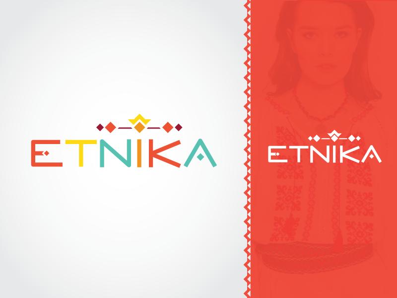 Logo for national Moldavian ethnic clothes typography brand identity clothing ethnic symbols colour vector branding creative design logo