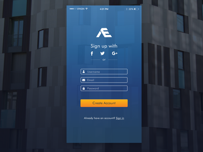 Daily UI  #1 Sing Up Form