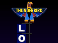 Thunderbird Sign, Night