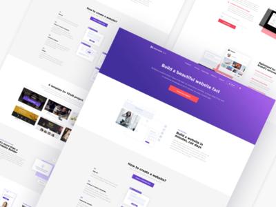 Website Builder Landing Page