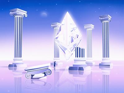 ETH FLOOR space monk illustrator artwork vector illustration nft cryptoart crypto ethereum eth