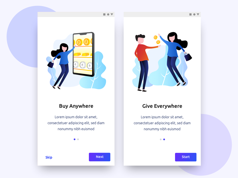 Onboarding Fintech App animation illustrator illustration icon app fintech finance app finance clean app icon minimal design app branding design android
