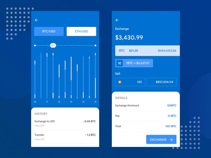 Crypto Exchange Mobile App exchange bitcoin crypto crypto app cryptocurrencies fintech finance app minimal illustration icon finance design app clean branding app android design