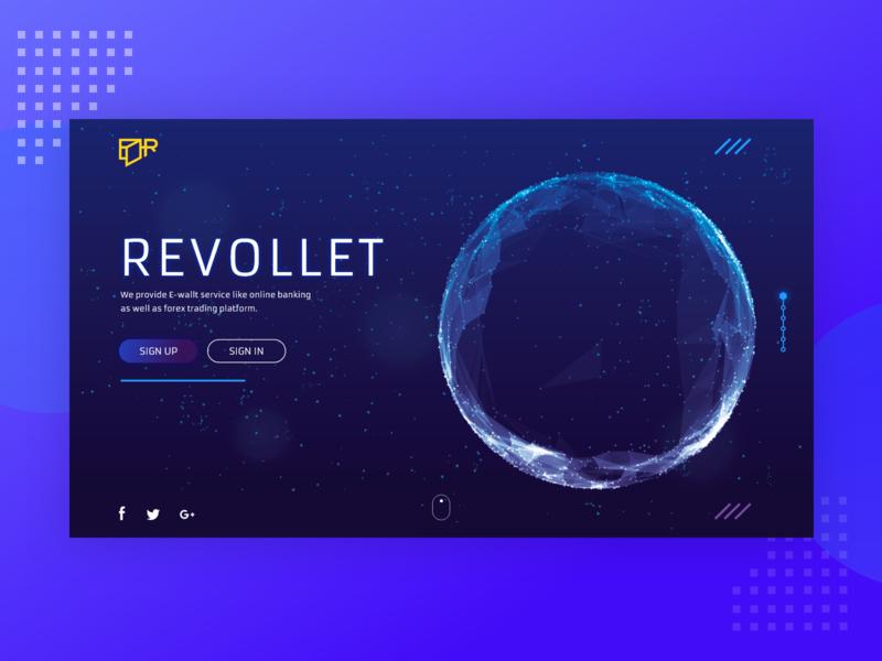 Revollet Web Design Project ux popup illustration clean vector gif web design app fintech finance app branding finance banking app banking crypto cryptocurrency design