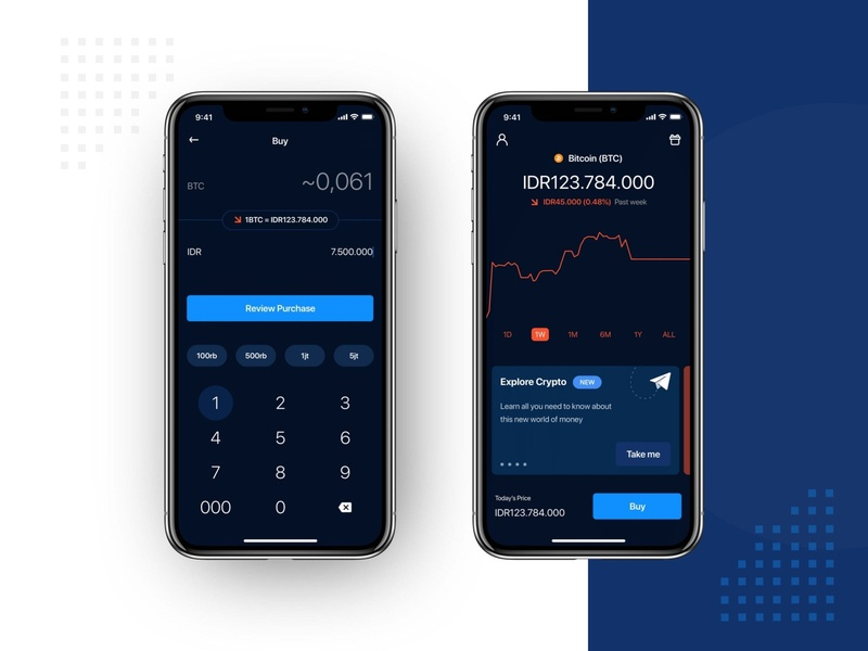 Trade Cryptocurrency App mobile dark robinhood graph chart exchange currency cuberto buy branding fintech app finance app finance clean design crypto wallet trading luno