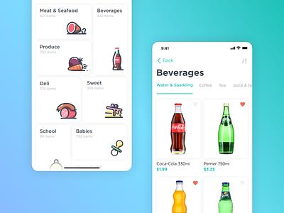 Golama Delivery App catalog design iphone x ux mobile delivery shop apple clean app app design illustration ui ios app color clean