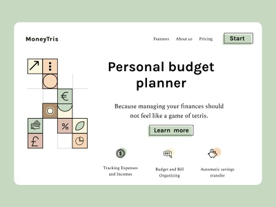 Personal budget planner finance personal budget tetris savings expense tracker money money management money app budget planner sketch design