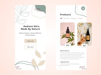 Skincare App Concept UI beauty product clean clean design ecommerce design uidesign ui product design product minimal app make up skincare beauty mobile