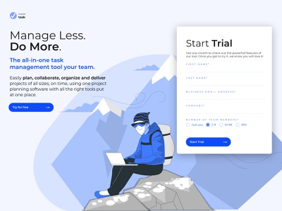 Start trial ui  ux trial product app design design