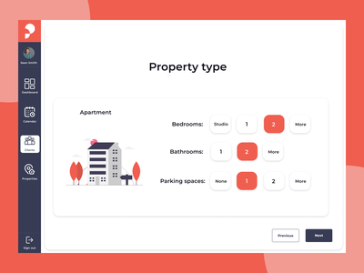 Real estate - apartment features real estate ui  ux product ui design