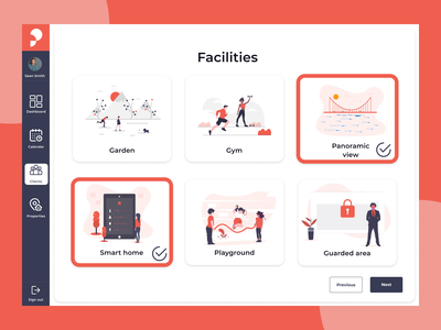 Real estate - facilities real estate illustration product ui ui  ux design