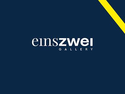 EinsZwei Gallery Logotype gallery art gallery yellow typography bold design art typo logotype logo