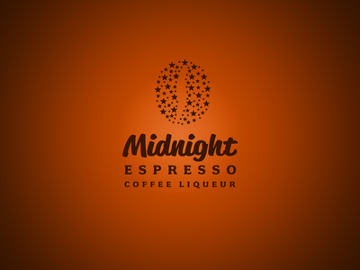 Midnight Esspresso Logotype liqueur bean coffee logotype logo