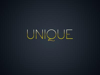 Unique Logotype concept logotype logo