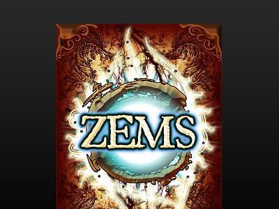 ZEMS Logo/card back card card game fantasy logotype logo