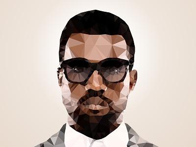 Kanye West Polygon Art illustration art polygon design graphic