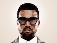 Kanye West Polygon Art