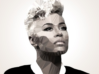 Emeli Sande Polygon Art. polygon graphic design design art