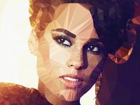 Alicia Keys Polygon Art