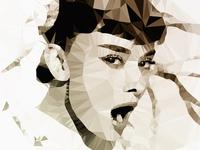 Audrey Hepburn Polygon Art