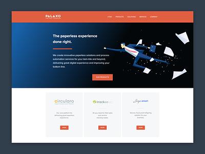 Palaxo Website paperless landing page website webdesign