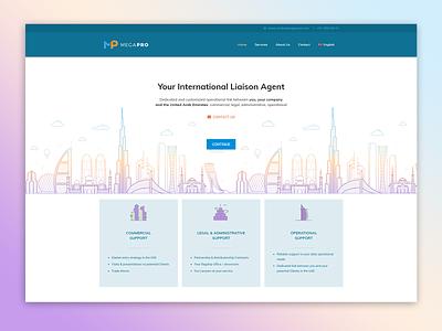 Megapro Website dubai uae landing page website webdesign
