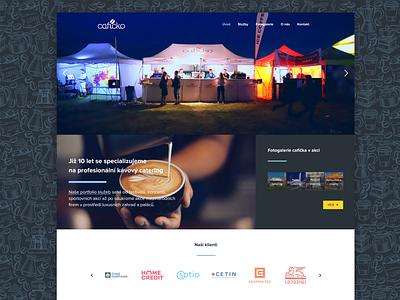 Cafíčko Webdesign catering coffee webdesign