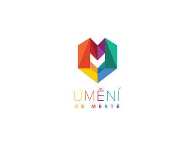 UVM Logotype love hidden message logo logotype typography festival sculpture multicolor heart art