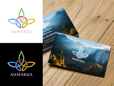 Aumakua Logotype spiritual multi color geometric busines card logotype logo